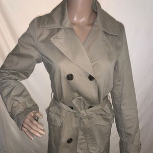 LOFT DOUBLE BREAST TRENCH COAT SIZE 0 FULLY LINED